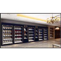 武汉海宏展柜公司订做木制烤漆黄鹤楼烟酒柜台,提供组装送货设计一条龙服务