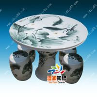 陶瓷桌子凳子批发价格 定制户外摆放桌凳厂家