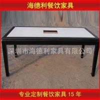 小火锅桌椅 大理石火锅桌椅 长方形东来顺火锅桌可定做