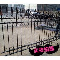 安平大乐丝网花园锌钢方管定做护栏热镀锌围墙围栏庭院篱笆栅栏铁艺围墙四根横杆隔离栏