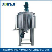 XJJ-H洗发水生产设备,鑫基电动洗涤剂液体强力搅拌机,洗发水夹层加热搅拌锅