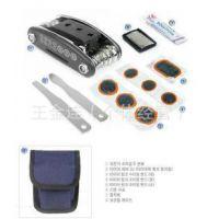 多功能自行车修车工具/补胎套装工具/内六角工具/撬胎棒 一物多用