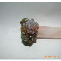 【厂家直销】创鸿宝石供应 天然 印度玛瑙 饰品玫瑰花戒指