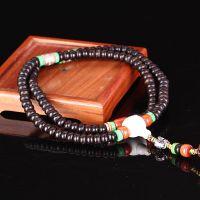 藏式天然印尼椰壳泥鳅背高油高密陈年老籽算盘珠108佛珠手串手链