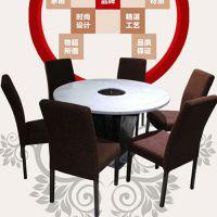 新品热卖 古典风格风大理石圆桌子 迪欧咖啡厅指定火锅桌 精品
