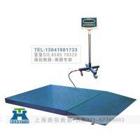 手推式电子地上衡-带引坡大型电子磅