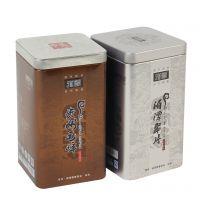 湄潭翠芽茶叶铁盒 咖啡色/银色铁桶 毛峰毛尖铁桶盒