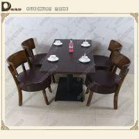 咖啡厅茶餐厅复古实木圆形、方形餐桌子 深圳欧迪轩厂家定制