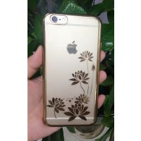苹果7电镀tpu边框手机壳Iphone 6/6s PLUS超薄透明保护套 背面印花