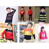 男女童 儿童毛衣针织衫 韩版套头长袖针织衫 童装批发 童针织衫