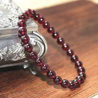 【奥斯汀】特价巴西天然玫红石榴石紫牙乌手链 天然水晶饰品