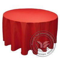 厂家爆款批发 涤纶酒店餐厅桌布 舒适圆桌桌布 婚庆红色桌布批发