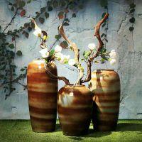 欧式风格插花瓶批发 样板房间落地大花瓶价格 建源陶瓷花瓶厂家