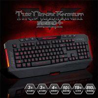 供应原装正品 黑爵黑暗骑士三色背光电竞键盘USB 游戏键盘批发