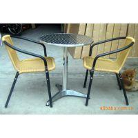 藤桌椅户外阳台花园小桌椅组合露天花园餐厅酒会餐桌椅田园桌子