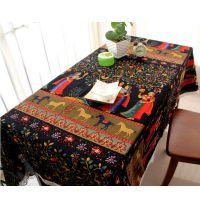 特价民族风餐桌布艺 棉麻 茶几布台布 地中海餐桌布
