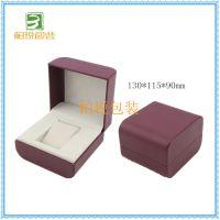 手表包装盒塑料荔枝纹pu皮革表盒儿童情侣电子对表礼盒批发定做