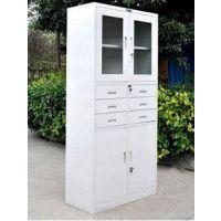 【办公文件柜】上玻下铁皮柜(简约美观)铁皮文件柜