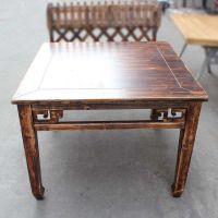 尺寸定做 海德利古典风格实木桌椅 餐厅专用8仙桌 雕花实木桌