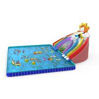 郑州卧龙动漫水世界供应彩虹水滑梯同规格升级版彩虹音乐水滑梯价格