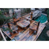 实木古典中式家具老船木餐桌椅定做老船木实木原色茶桌椅批发--老码头艺术船木家具