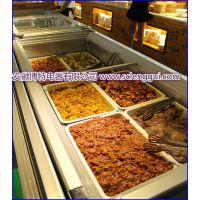韩式烧烤店保鲜展示柜 自助烤肉菜品自选柜 常州2.5米速冻岛柜价格