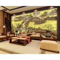 木居时代M1241新古典电视柜地柜酒店漆画