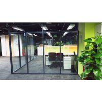 广州室内装修 不到顶隔断系列 玻璃隔断