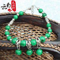 新款绿松石手链 藏式手链民族特色饰品女士复古手链休闲潮流百媚