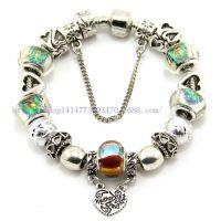 外贸货源速卖通热销款 大孔琉璃合金珠DIY串珠款手链 潘多拉手链