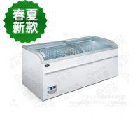 1.8米组合型无霜岛柜/冰淇淋柜展示柜/弧形玻璃冰柜/超市冷柜