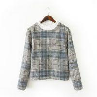 XIAO.Y.W.M--YT 2015新款田园风羊毛呢花边领打底衫 套头上衣T恤