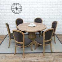美式乡村家具纯实木圆桌复古装饰桌松木餐桌饭桌吧台桌做旧咖啡桌