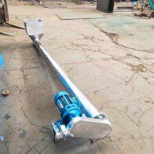 不锈钢面粉绞龙提料机 孟州市倾斜式螺旋提升机 带万向移动轮的油茶籽螺杆上料机