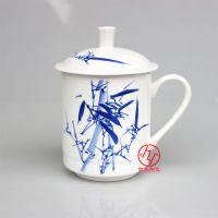 手绘青花陶瓷茶杯