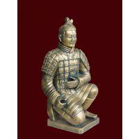 西安兵马俑工艺礼品 厂家直销 西安仿古兵马俑跪射俑批发