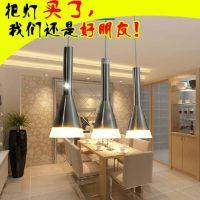 欧普灯具餐厅灯吊线灯 现代简约餐厅灯三头餐吊灯具照明 光芒
