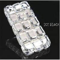 爆款 三星S4/9500手机壳水晶透明方格冰块保护套 亚克力防摔外壳
