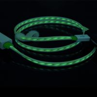 深圳工厂直销流光数据充电线,IPHONE4发光线 冷光手机usb数据线