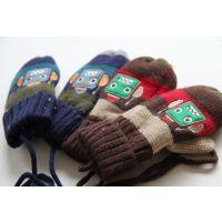 男女童 羊羔绒手套 可爱男女童宝宝手套 保暖手套 F1203-3-2