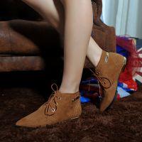 直销女士短靴 文艺短靴 尖头马丁靴 女士冬季鞋棉靴 换季大清仓