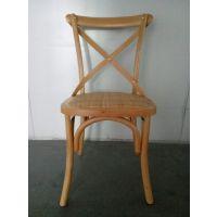 【扬韬家具工厂直销】美式创意交叉靠背全实木餐椅 高档餐厅椅子 厂家货源!