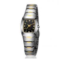 手表定制钨钢手表新款防水商务女腕表石英表女士钻石手表女