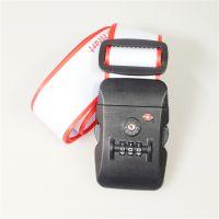 广州工厂定制 涤纶热转印tsa密码锁打包带 海关锁319密码锁行李带