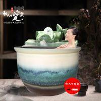 陶瓷泡澡缸厂家 定做青花大缸 温泉洗浴泡澡陶瓷缸 景德镇陶瓷缸