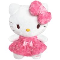 长亿 hello kitty公仔凯蒂猫毛绒玩具 玫瑰kitty布娃娃玩偶礼物女
