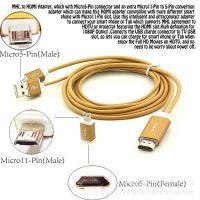 三星MHL to HDMI 视频转接线 S5 Tab4 mhl手机转HDMI线 工厂货源