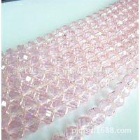 水晶珠帘材料 厂家批发各种切面玻璃珠水晶扁珠 颜色齐全 72粒/条