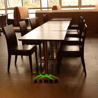 供应深圳西厅家具大理石连体餐桌椅食堂餐桌椅职工食堂餐桌椅