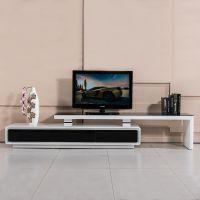 现代简约时尚客厅家具钢化玻璃桌面大理石台面钢琴烤漆可伸缩电视柜A51#包邮